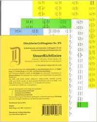 Griffregister Steuerrichtlinien